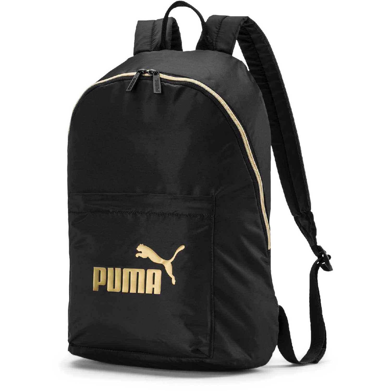 Puma wmn core seasonal backpack Negro / dorado Mochilas Multipropósitos