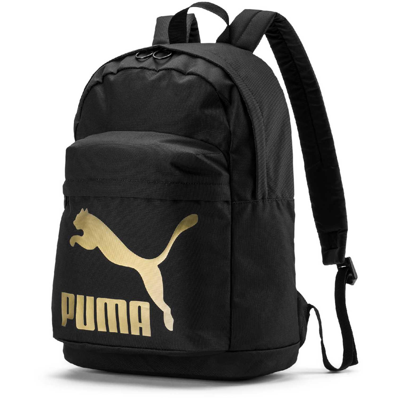 Puma originals backpack Negro / dorado Mochilas Multipropósitos