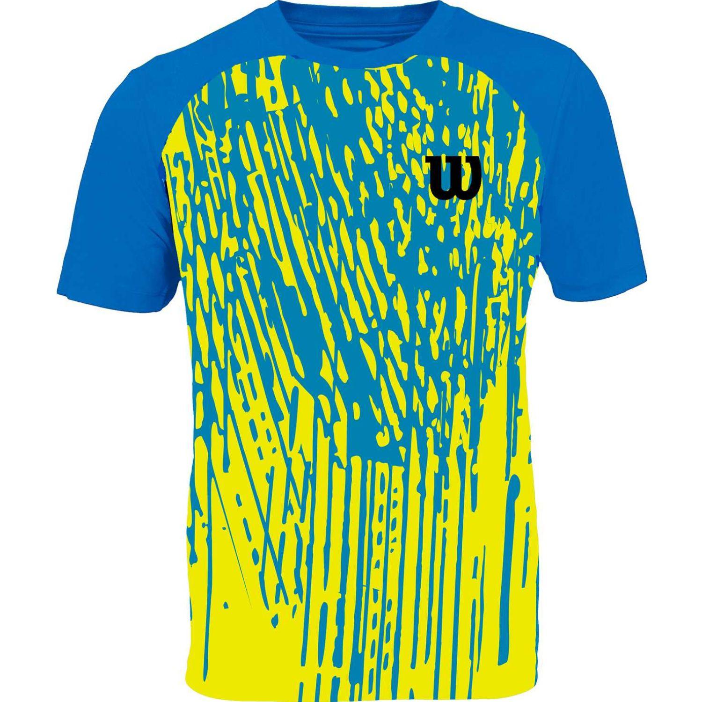 Wilson camiseta performance i inf m Celeste / amarillo Camisetas y Polos Deportivos