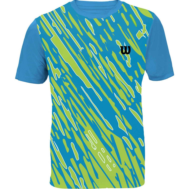 Wilson Camiseta Performance Ii Inf M Celeste / amarillo Camisetas y Polos Deportivos