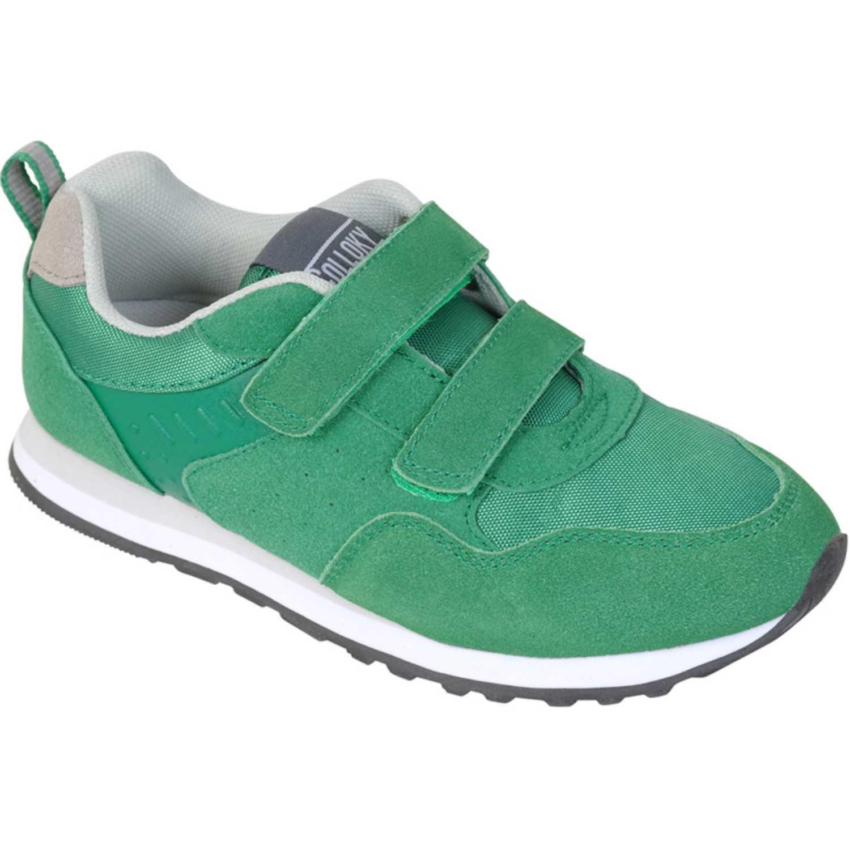 Colloky zapatilla 2 velcros jogging Verde Zapatillas