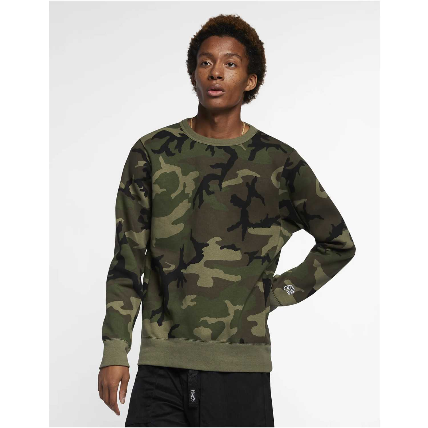 Nike m nk sb crew icon erdl Camuflado Hoodies y Sweaters Fashion