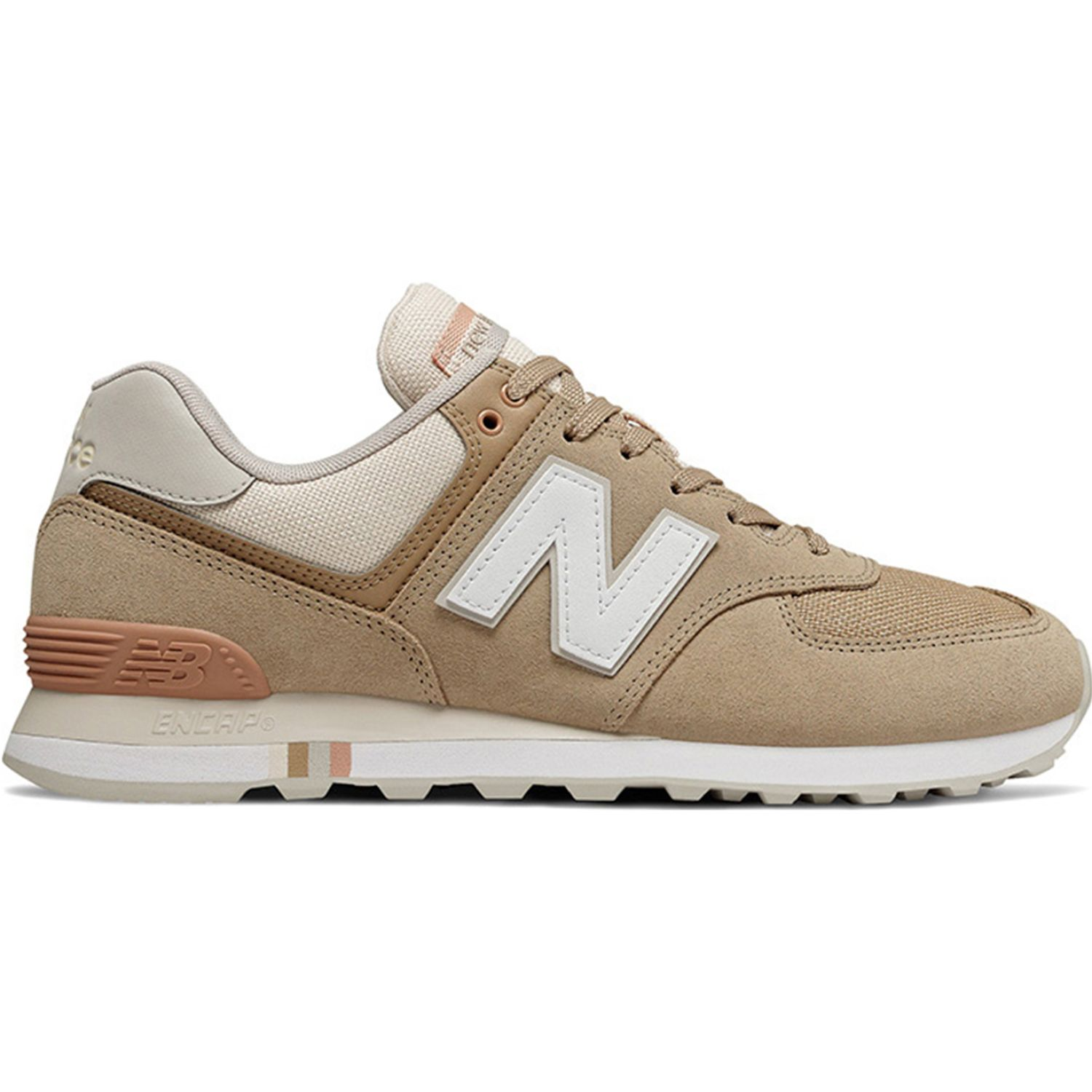 New Balance 574 Camel Walking