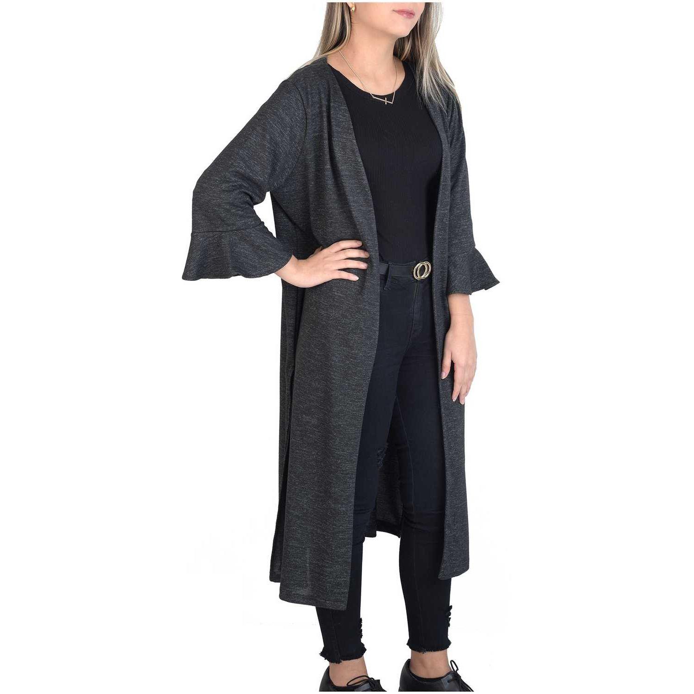 Andoas Clothing capa angora Gris oscuro Abrigos de Lana y Pea