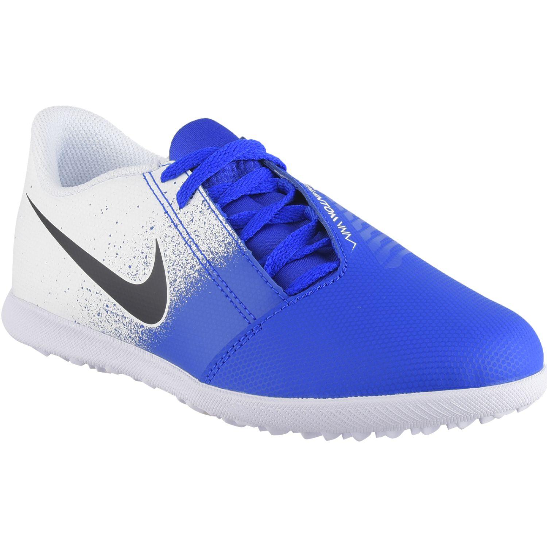 Nike jr phantom venom club tf Blanco / azul Muchachos
