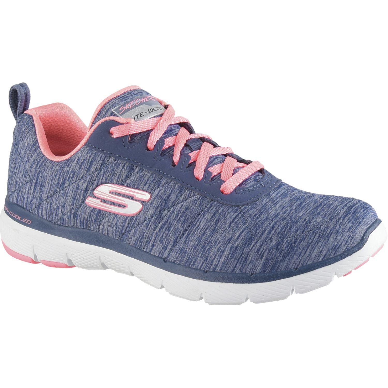 Skechers Flex Appeal 3.0 - Insiders Azul / rosado Para caminar
