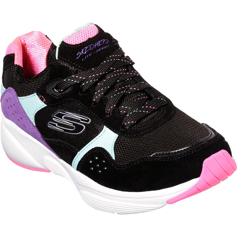 Skechers meridian no worries Negro rosado Walking