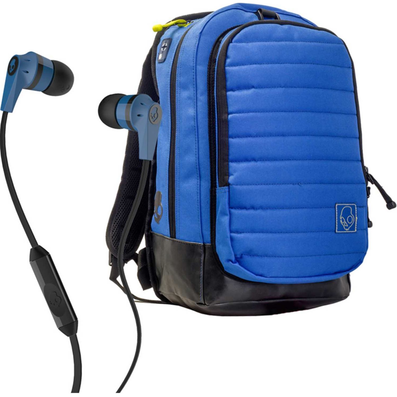 Audífonos de Hombre Skullcandy Azul ink'd wire+mochila hesh