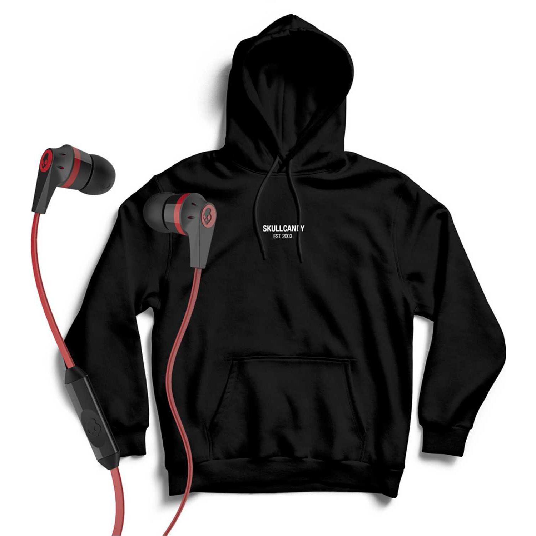 Casual de Hombre Skullcandy Rojo hoodie minimal neg+ink'd wire