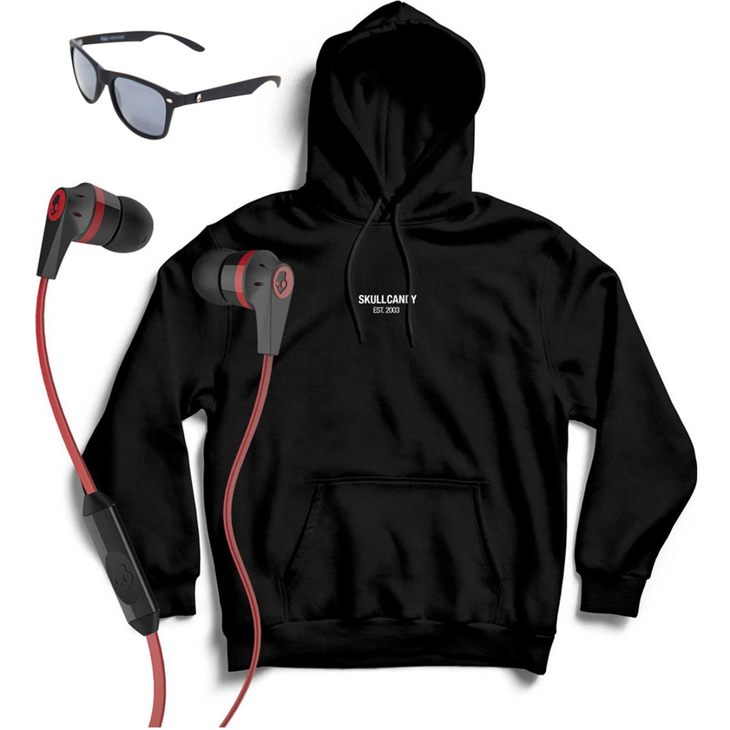 Skullcandy hoodie minimal neg+inkd wire+lenteskyd Rojo Hoodies y Sweaters Fashion