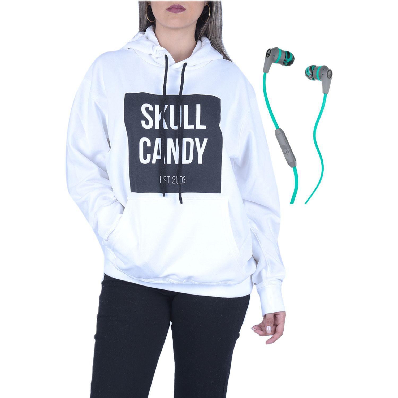Casual de Hombre Skullcandy Gris / menta hoodie square blan+ink'd wire