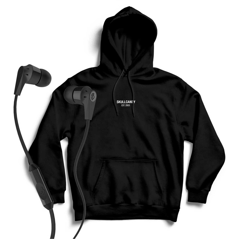 Polera de Hombre Skullcandy Negro hoodie minimal neg+ink'd wire
