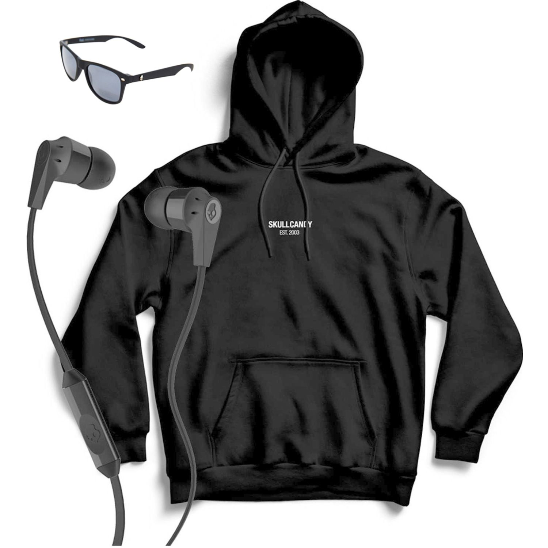 Skullcandy hoodie minimal neg+ink'd wire Negro Hoodies Deportivos