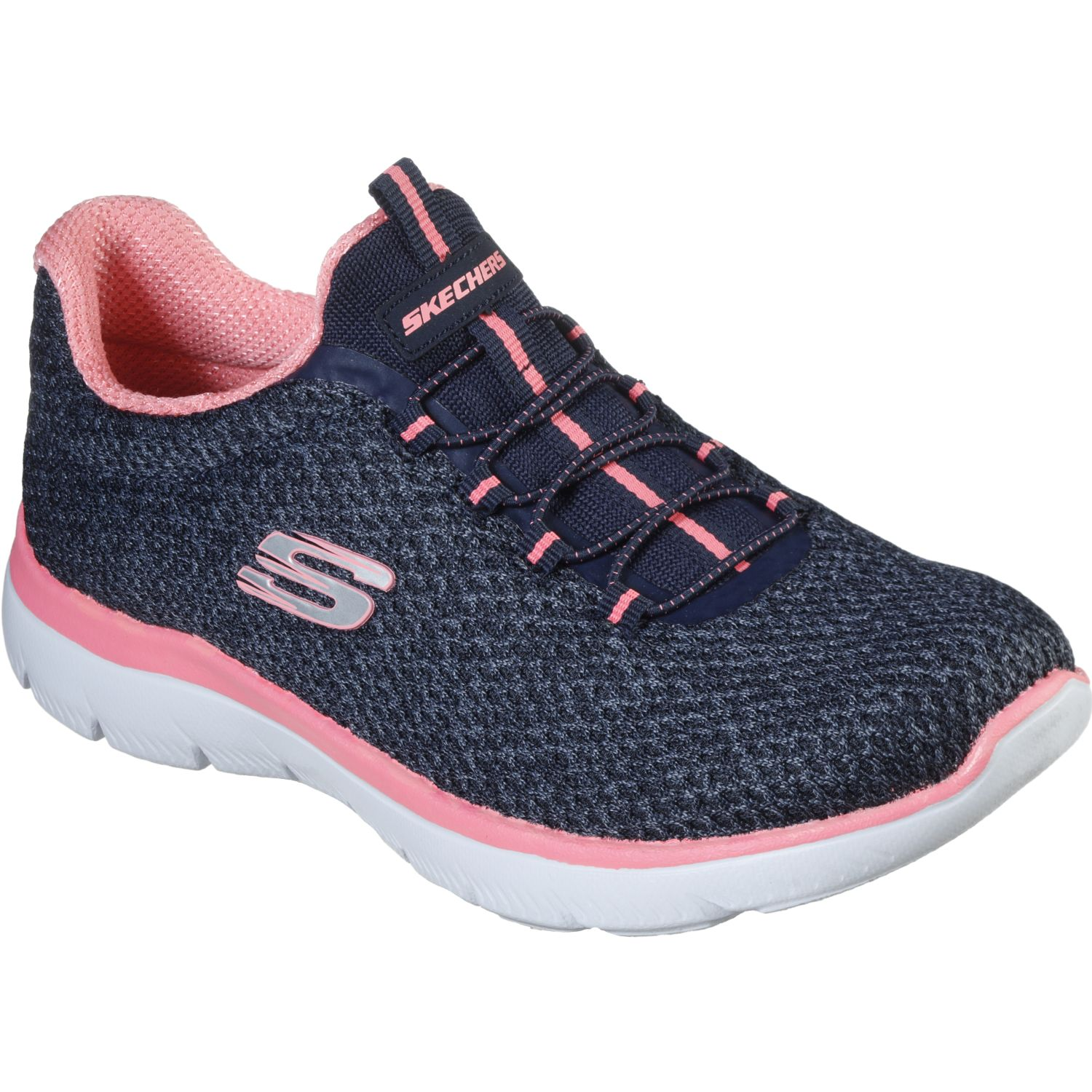 Skechers summits - striding Navy / Rosado Walking