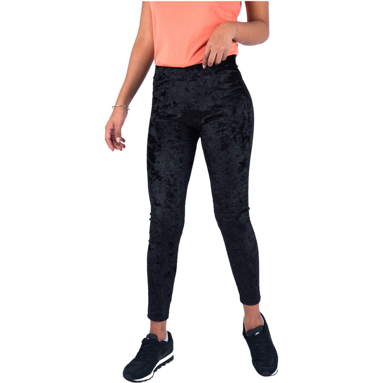 Pantalonia leg basico plush Negro Casual