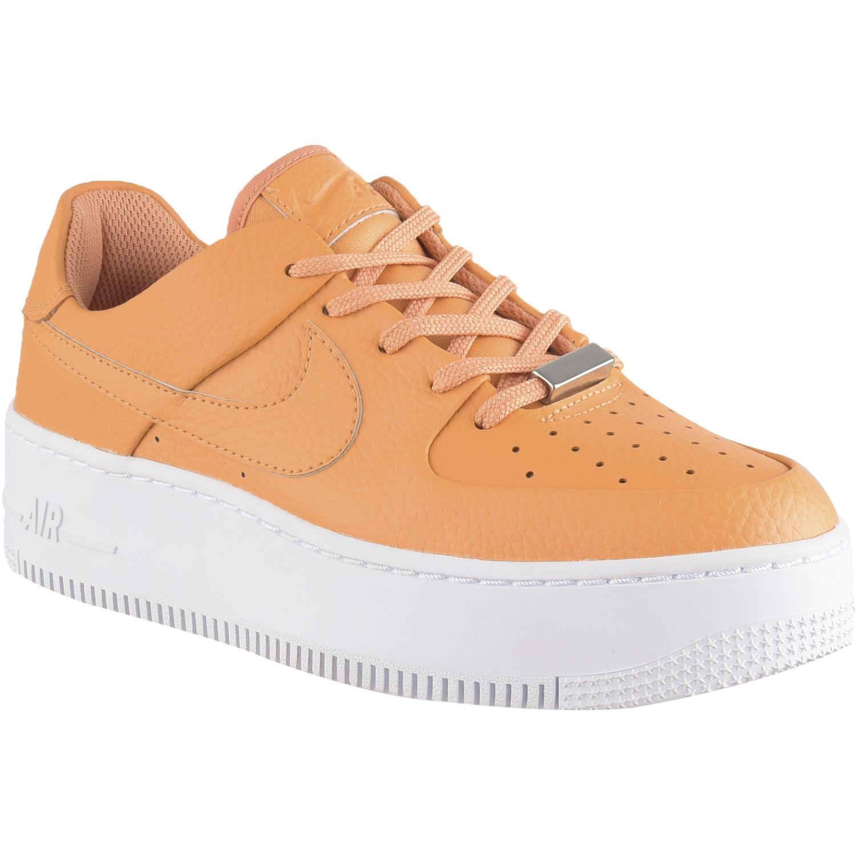Nike W Af1 Sage Low Naranja / blanco Walking