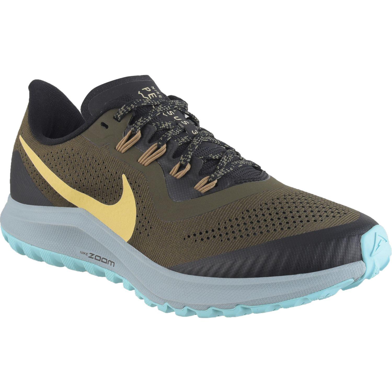 Nike Wmns Air Zoom Pegasus 36 Trail Negro / amarillo Correr por carretera