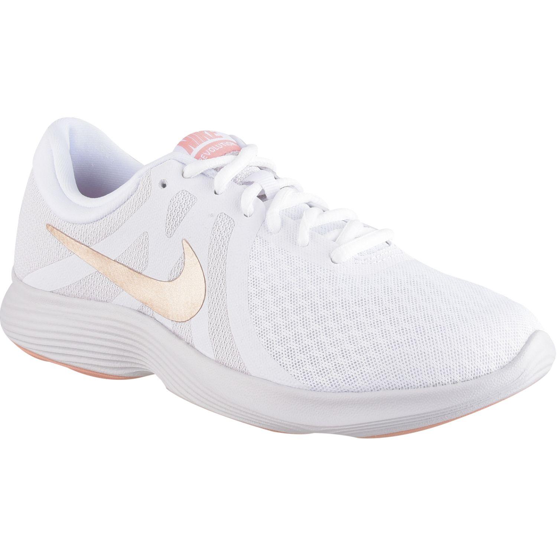 Nike Wmns Nike Revolution 4 Blanco / Melon Calzado de correr