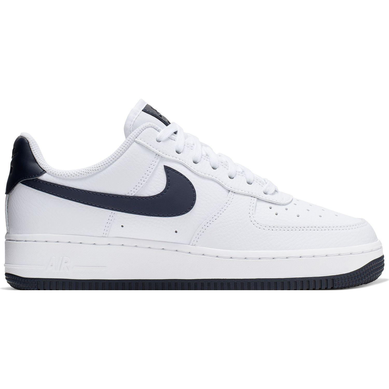 Nike WMNS AIR FORCE 1 '07 Blanco / Navy Walking
