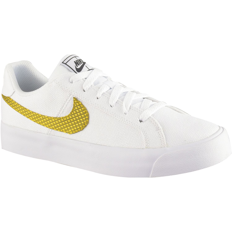 dramático Fantasía letal  Nike WMNS NIKE COURT ROYALE AC SE Blanco / dorado Walking | platanitos.com