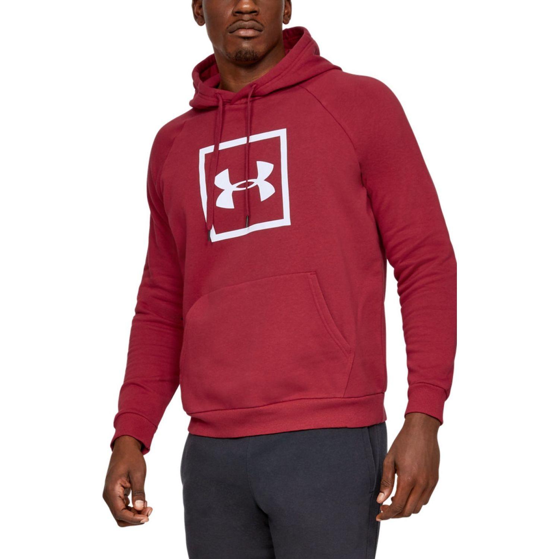 Under Armour Rival Fleece Logo Hoodie Rojo Hoodies deportivos