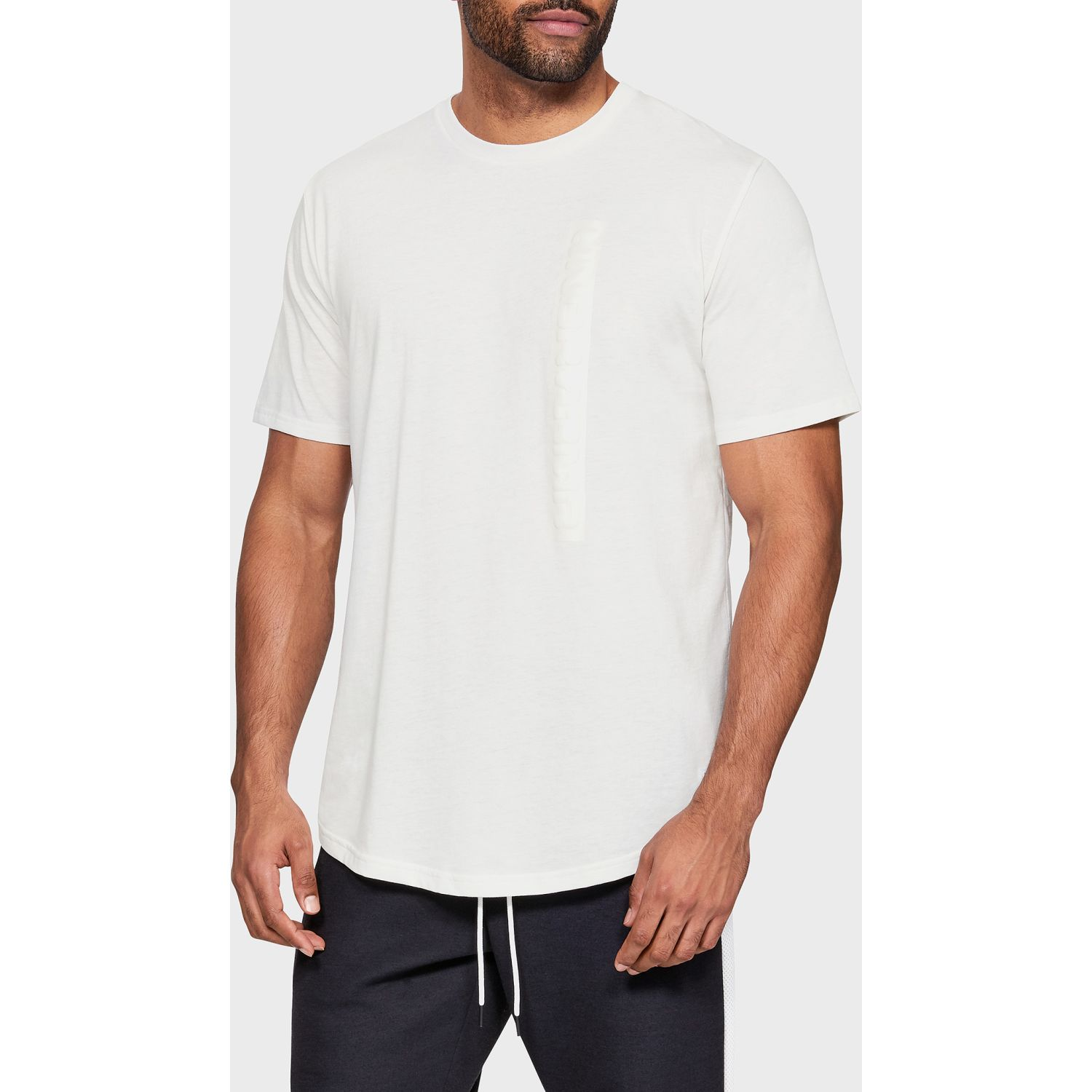 Deportivo de Hombre Under Armour Blanco ua pursuit wordmark core tee