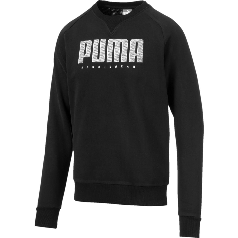 Puma athletics crew fl Negro Pullovers