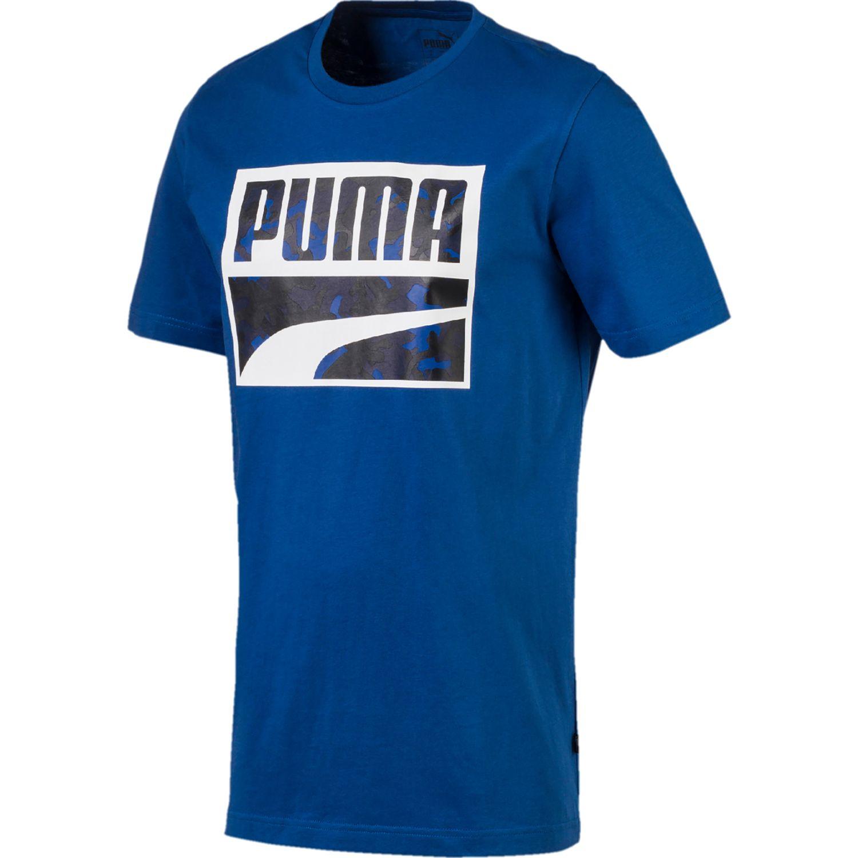 Puma Rebel Camo  Filled Tee Azul Camisetas y polos deportivos