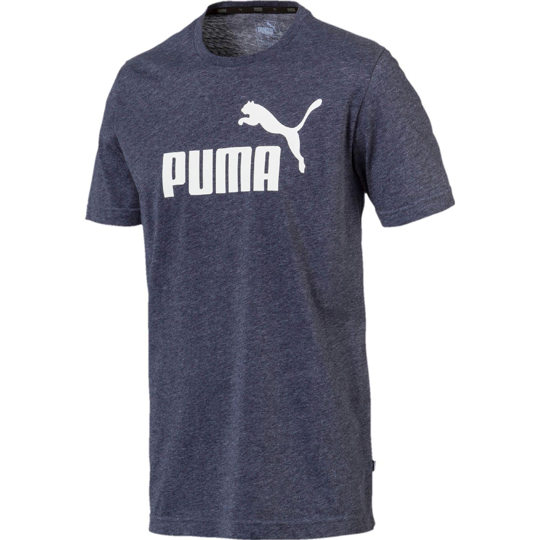 Puma ess+ heather tee Azul Camisetas y Polos Deportivos