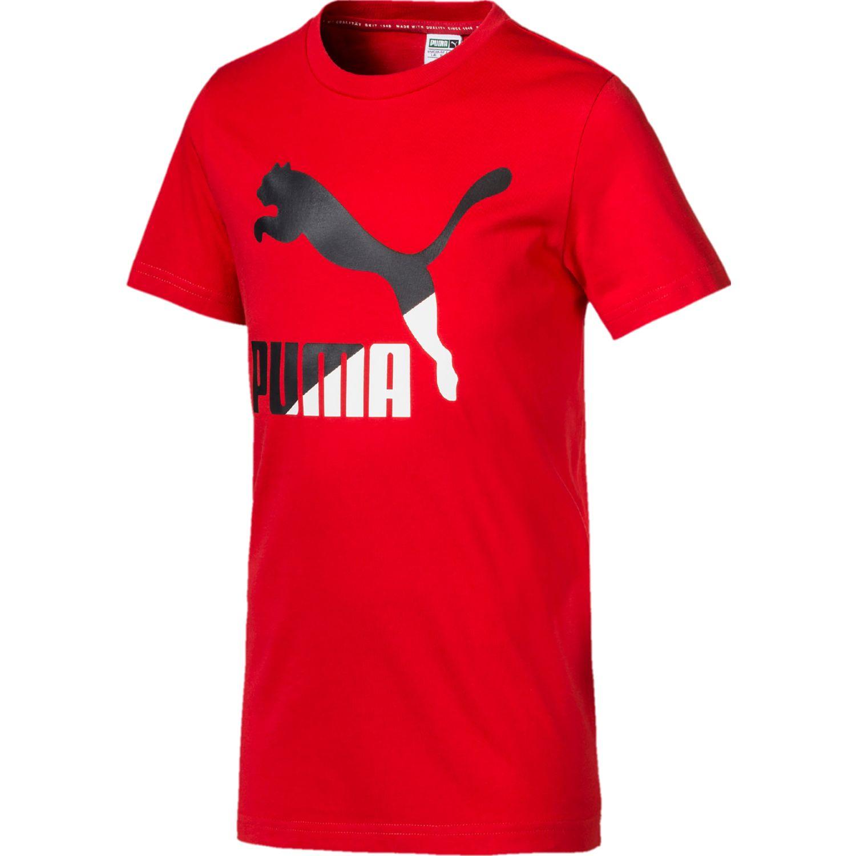 Puma classics logo tee b Rojo Camisetas y Polos Deportivos
