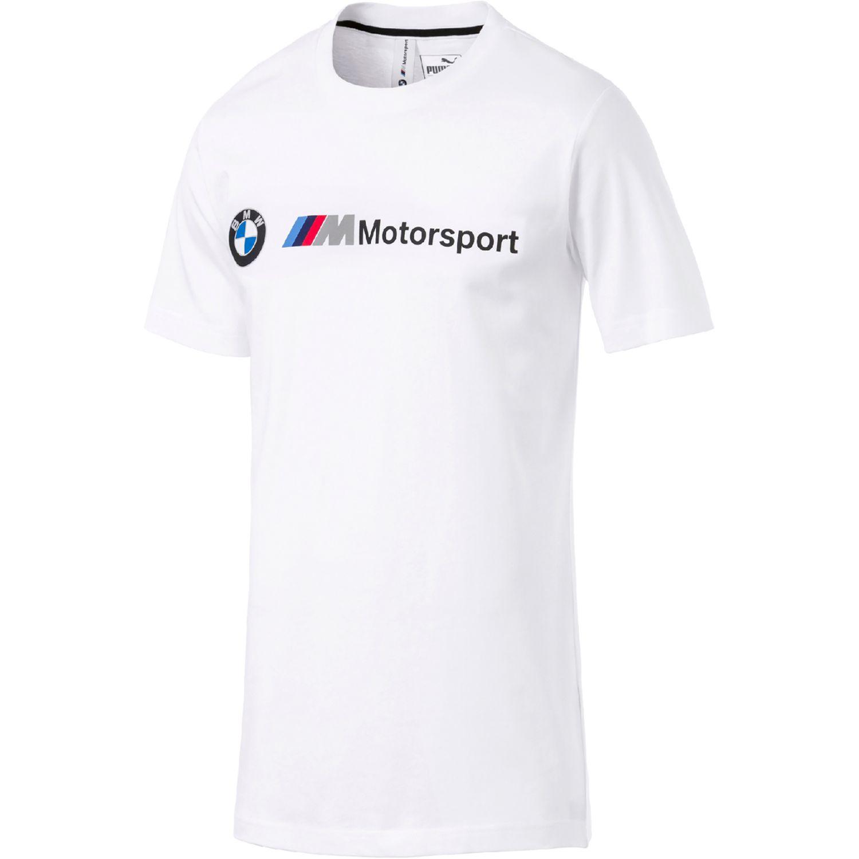 Puma Bmw Mms Logo Tee Blanco Camisetas y Polos Deportivos