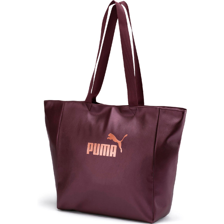 Puma wmn core up large shopper Guinda Bolsos de gimnasio