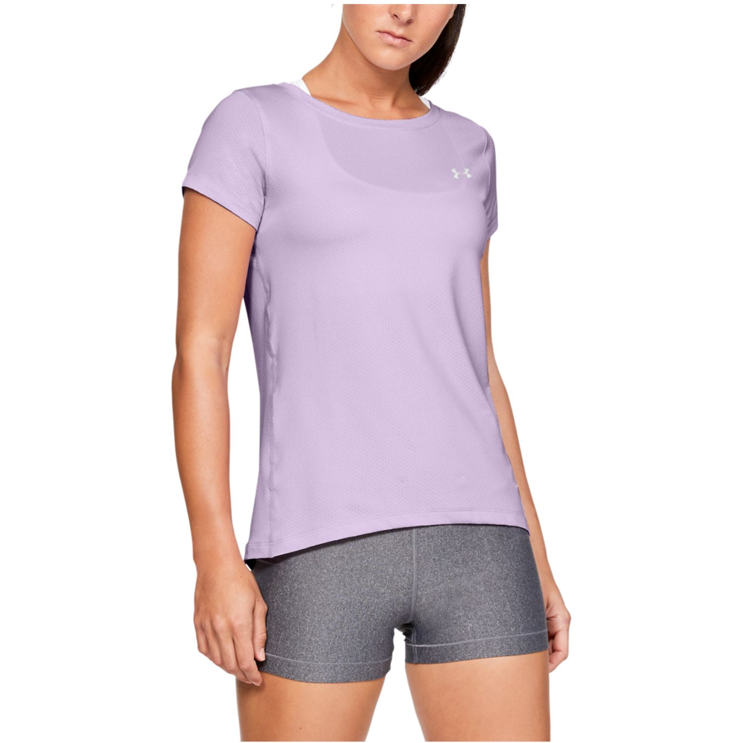 Under Armour Ua Hg Armour Ss Lila Polos