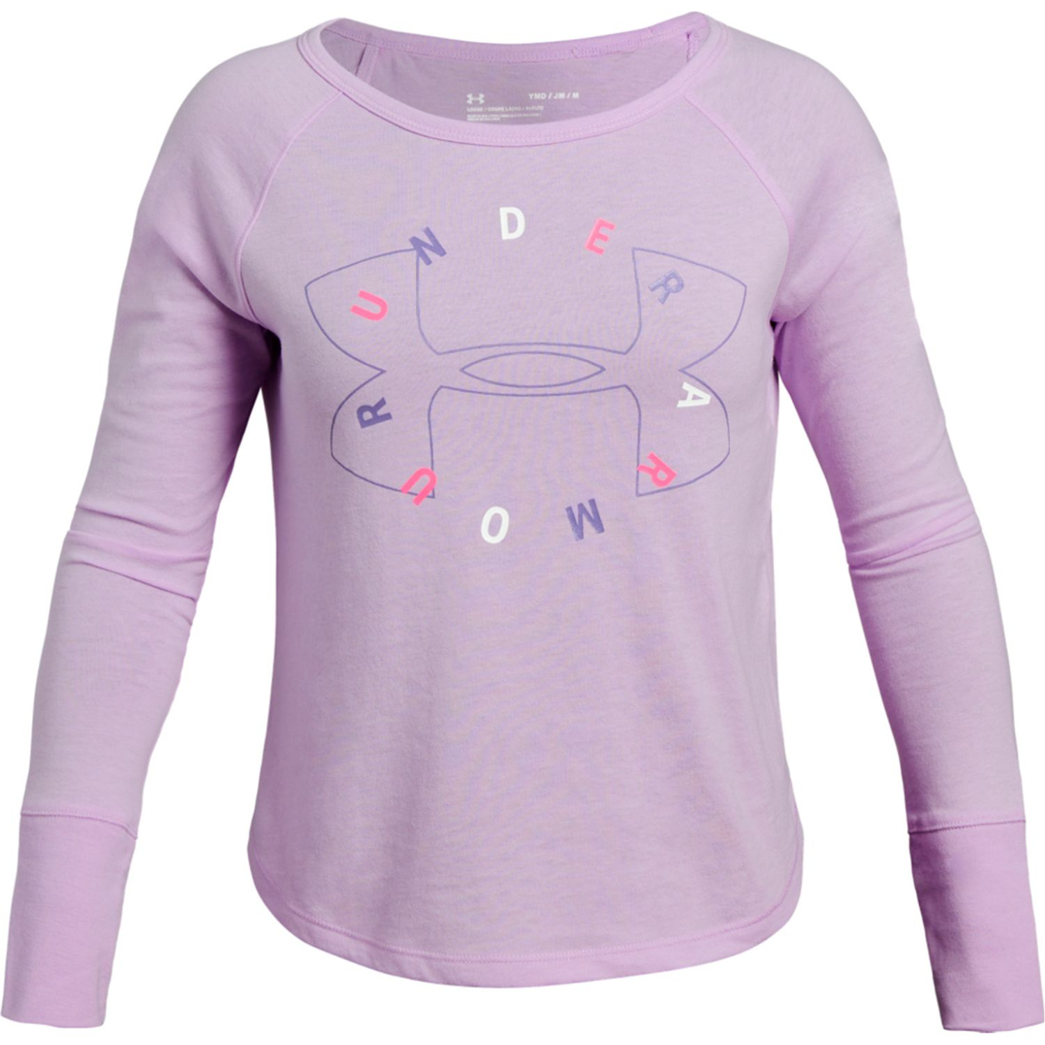 Under Armour Finale Long Sleeve Lila Sweatshirts Deportivos