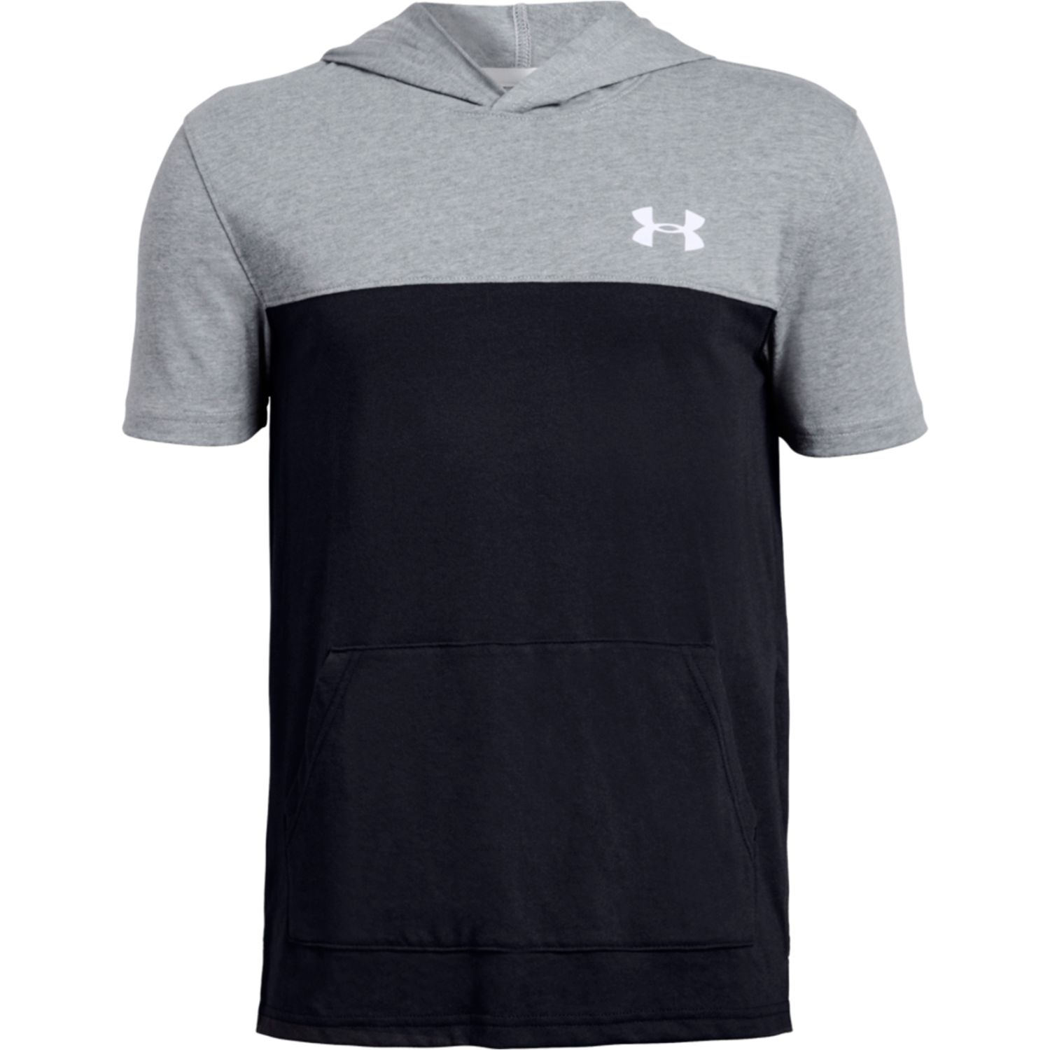 Under Armour sportstyle short sleeve hoody NEGRO / GRIS Hoodies Deportivos