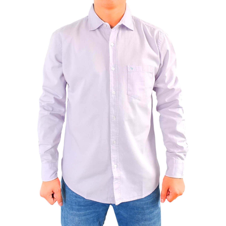 Snaax Camisa Drill Saul Lila Camisas De Botones Platanitos Com
