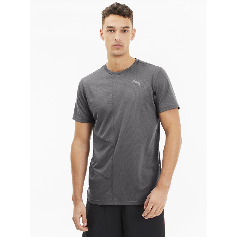 Puma Ignite S/S Tee Gris Camisetas y Polos Deportivos