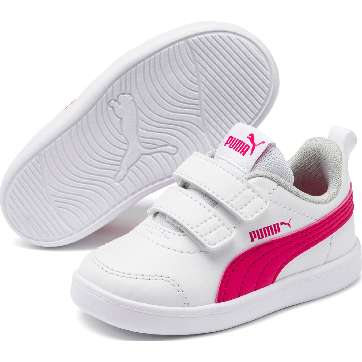 Puma courtflex v2 v inf Blanco / fucsia Walking