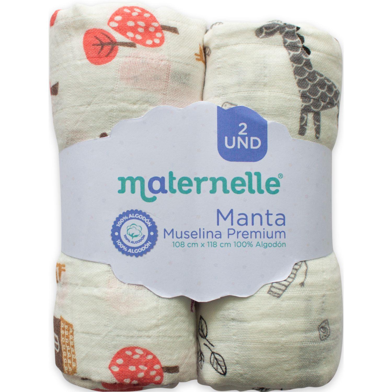 MATERNELLE manta muselina pack x 2 Varios Mantas de cama