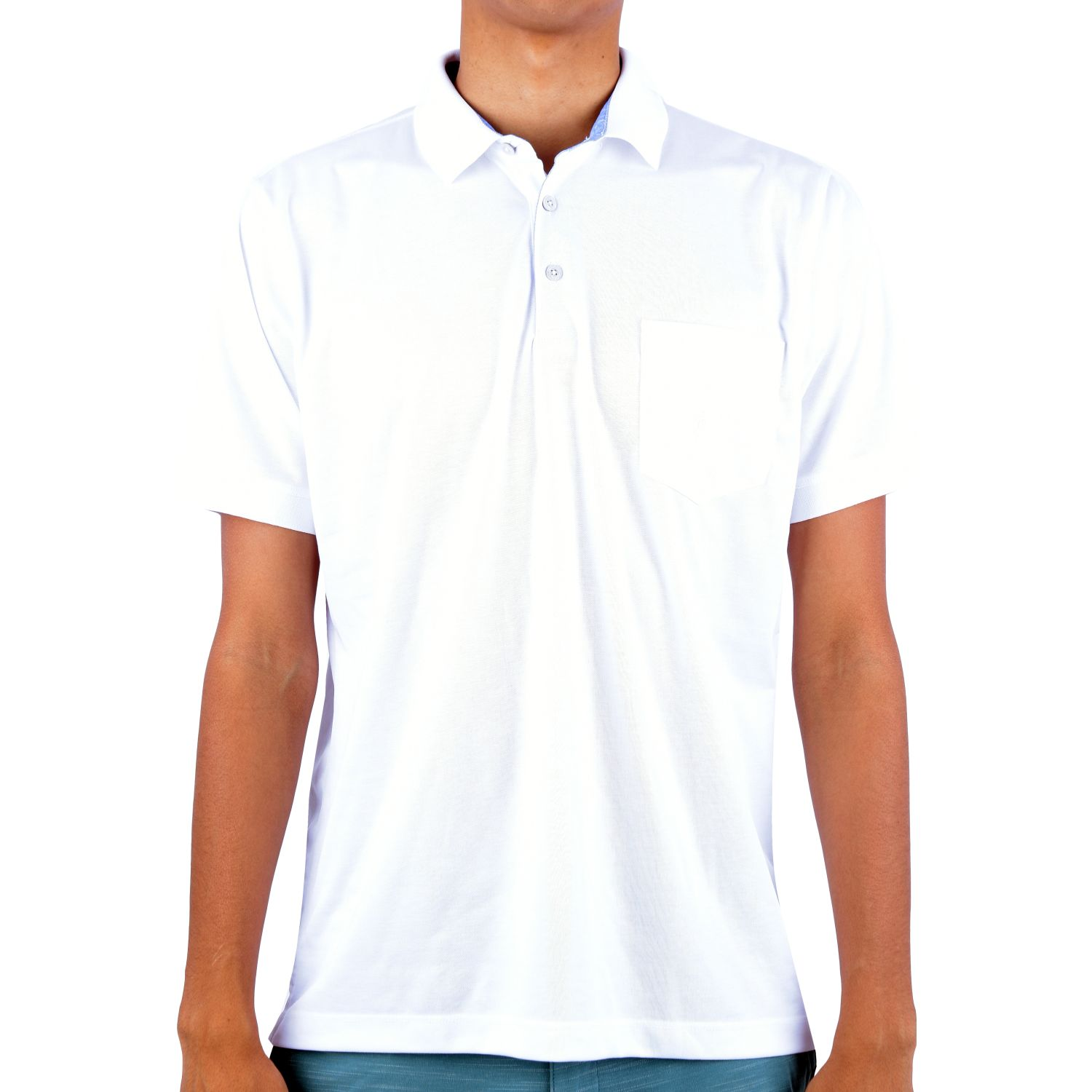 Ritzy Of Italy Polo Winter Oxford Color Entero Blanco Polos