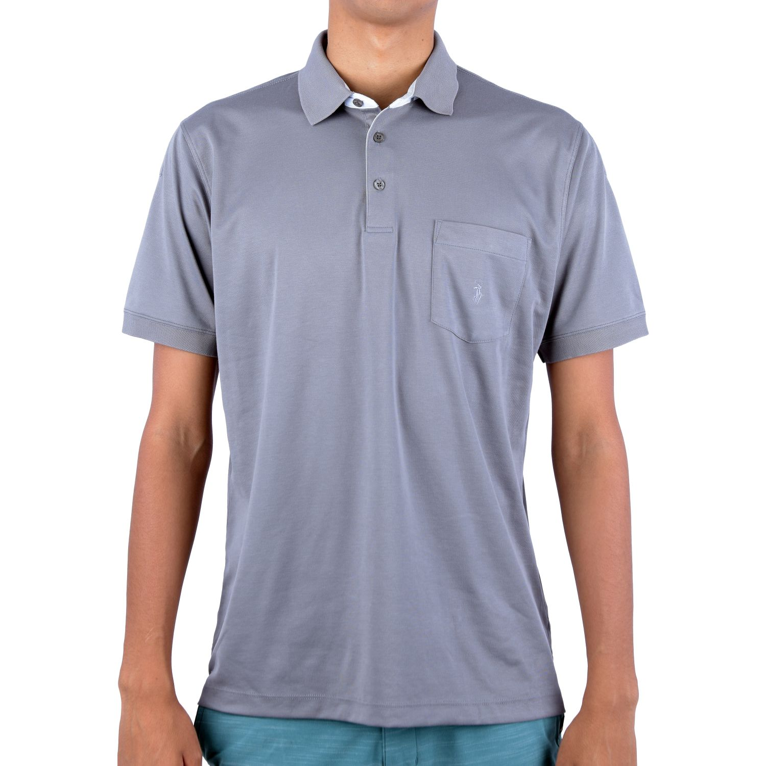 Ritzy Of Italy Polo Winter Oxford Color Entero Gris Polos