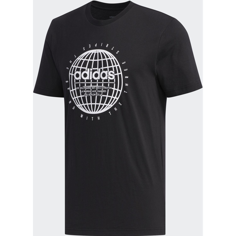 Adidas M GLB T Negro Camisetas y Polos Deportivos