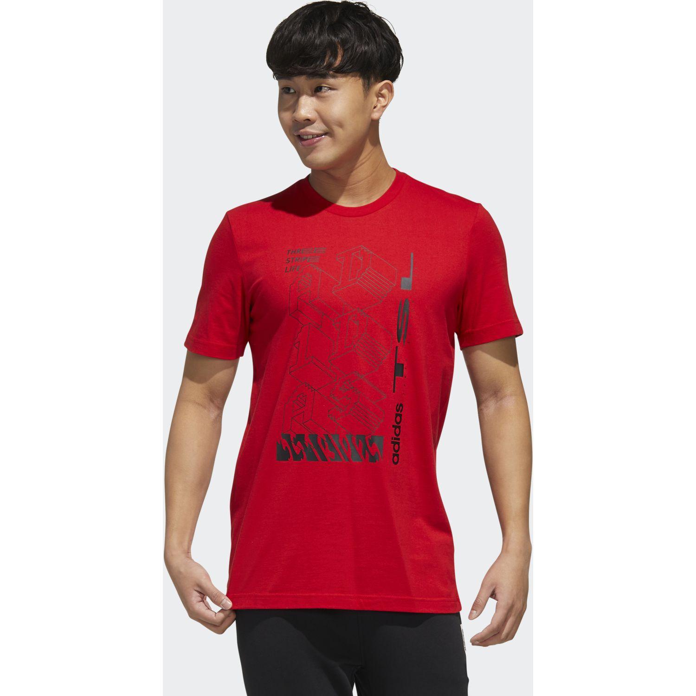Adidas M TSL T Rojo Camisetas y Polos Deportivos
