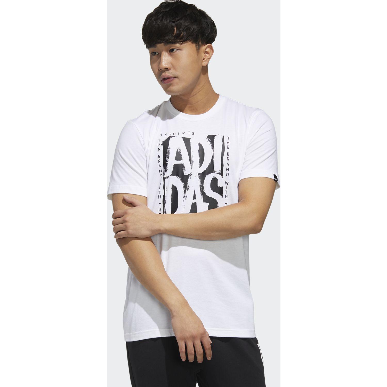 Adidas m stmp t Blanco Camisetas y Polos Deportivos