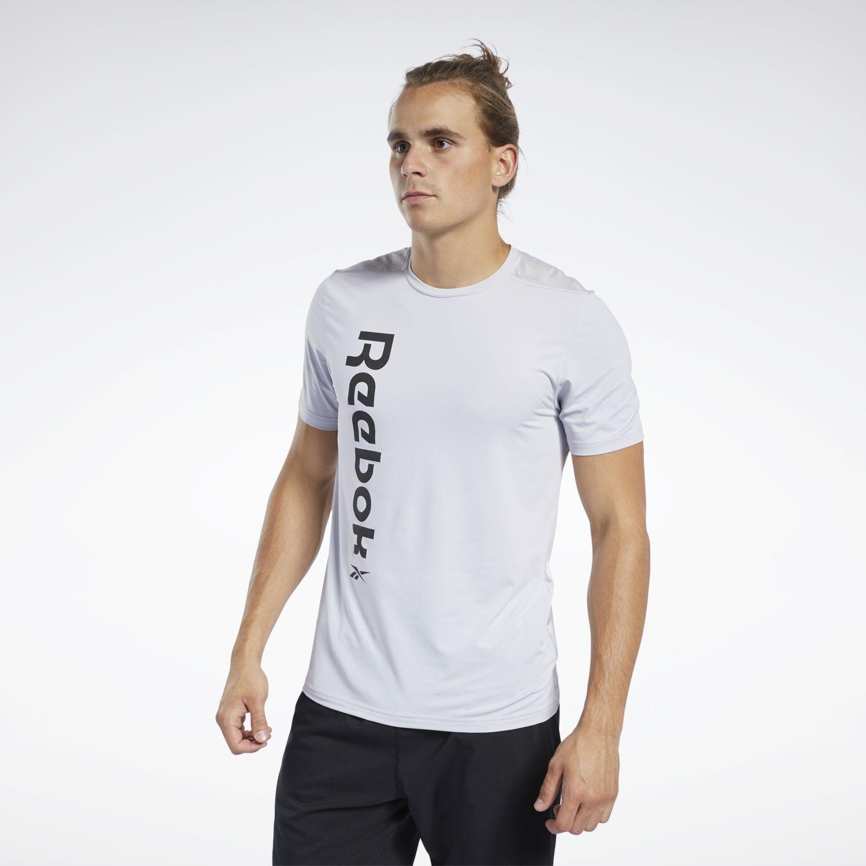 Reebok wor ac graphic ss q1 Gris Camisetas y Polos Deportivos