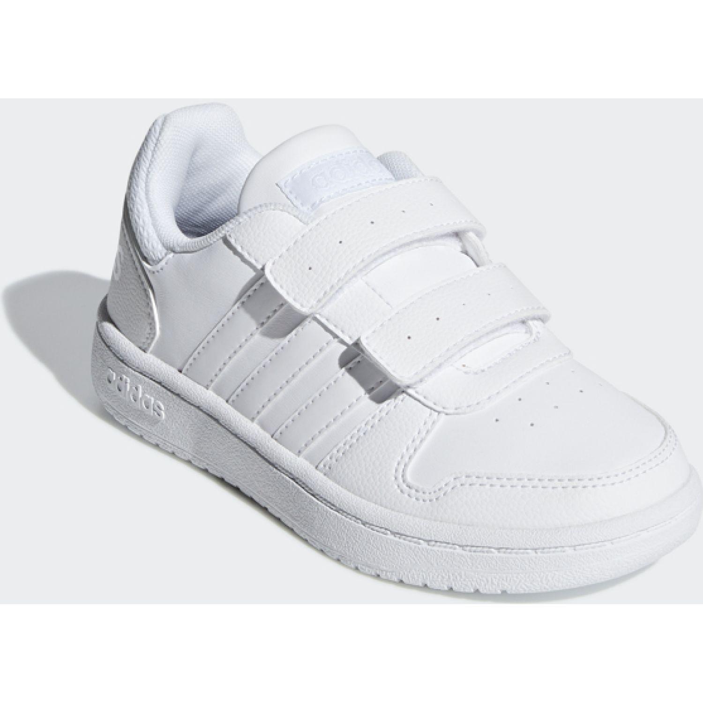 Adidas Hoops 2.0 Cmf C Blanco Niñas