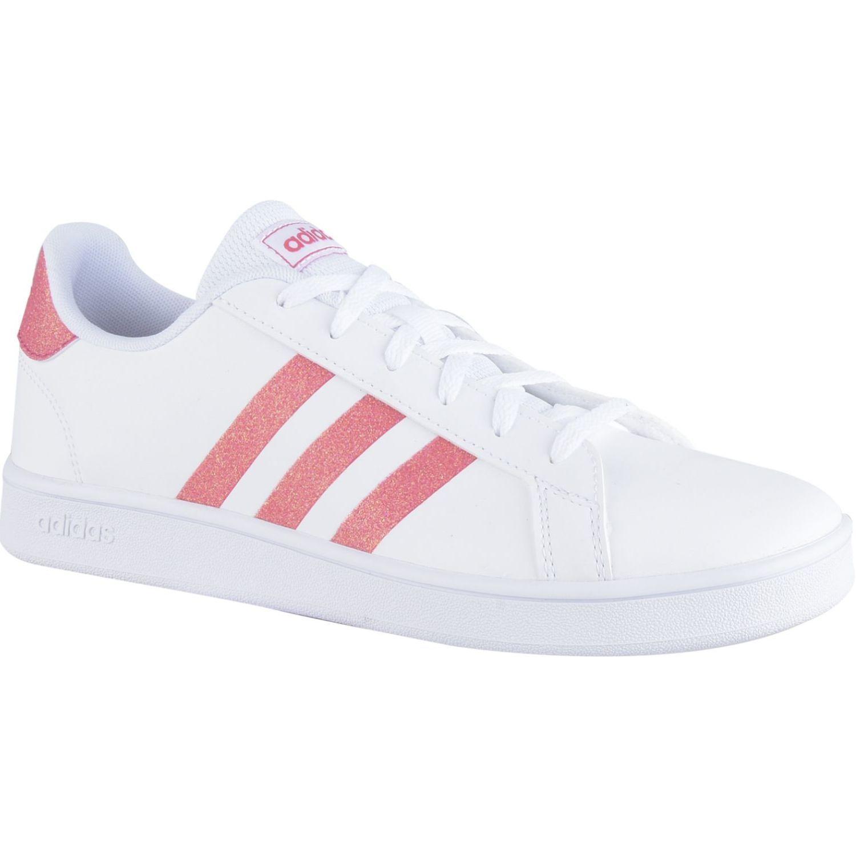 Adidas Grand Court K Blanco / rosado Para caminar