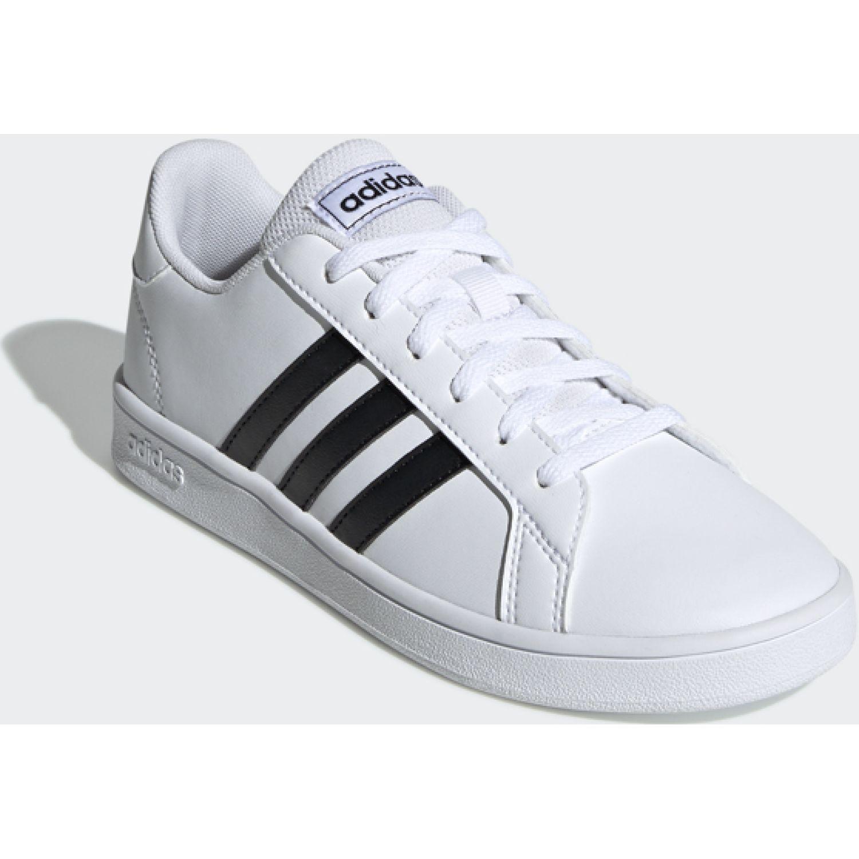 Adidas Grand Court K Blanco / negro Walking