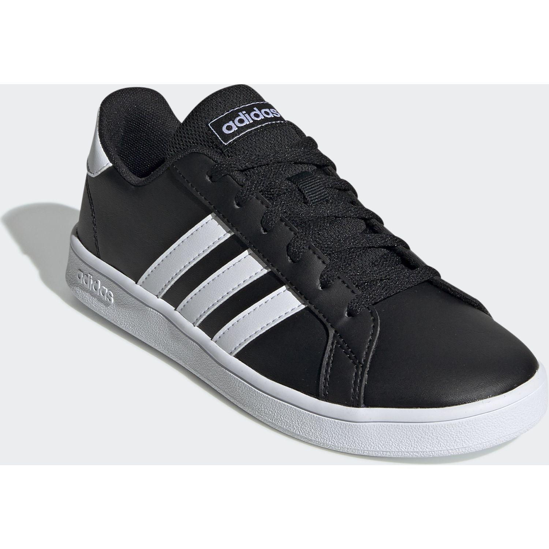 Adidas Grand Court K Negro / blanco Walking