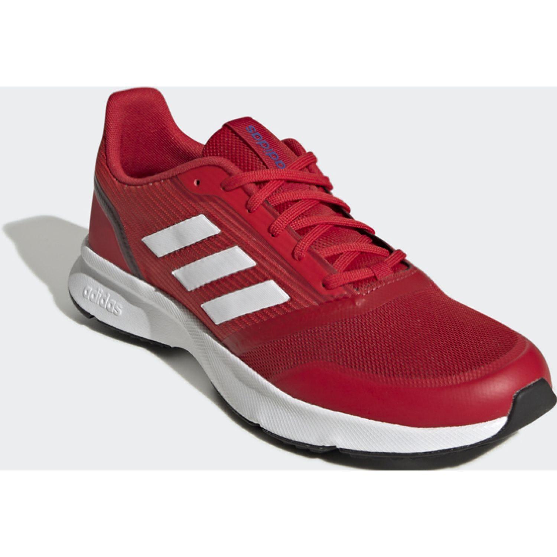 adidas Nova Flow Rojo / blanco Correr por carretera